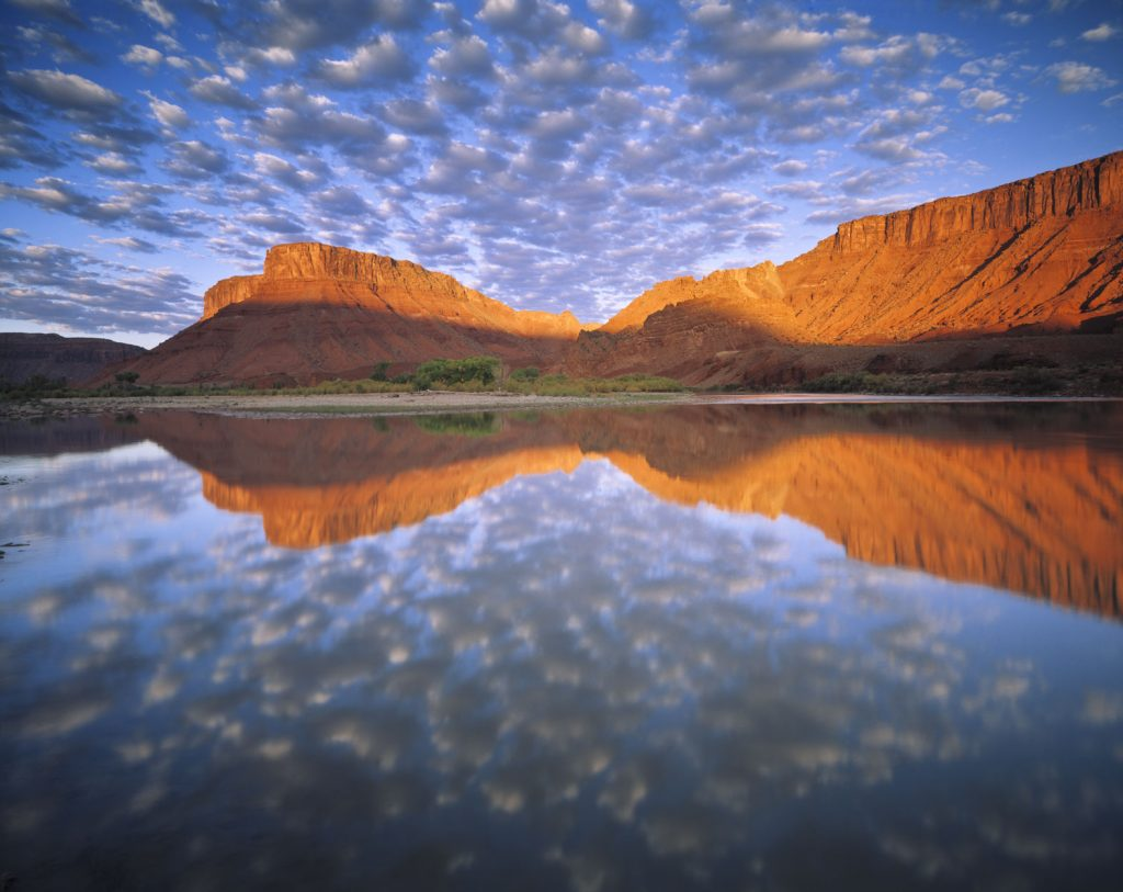 Buttermilk Clouds above Colorado River, Sorrel River Ranch, Utah