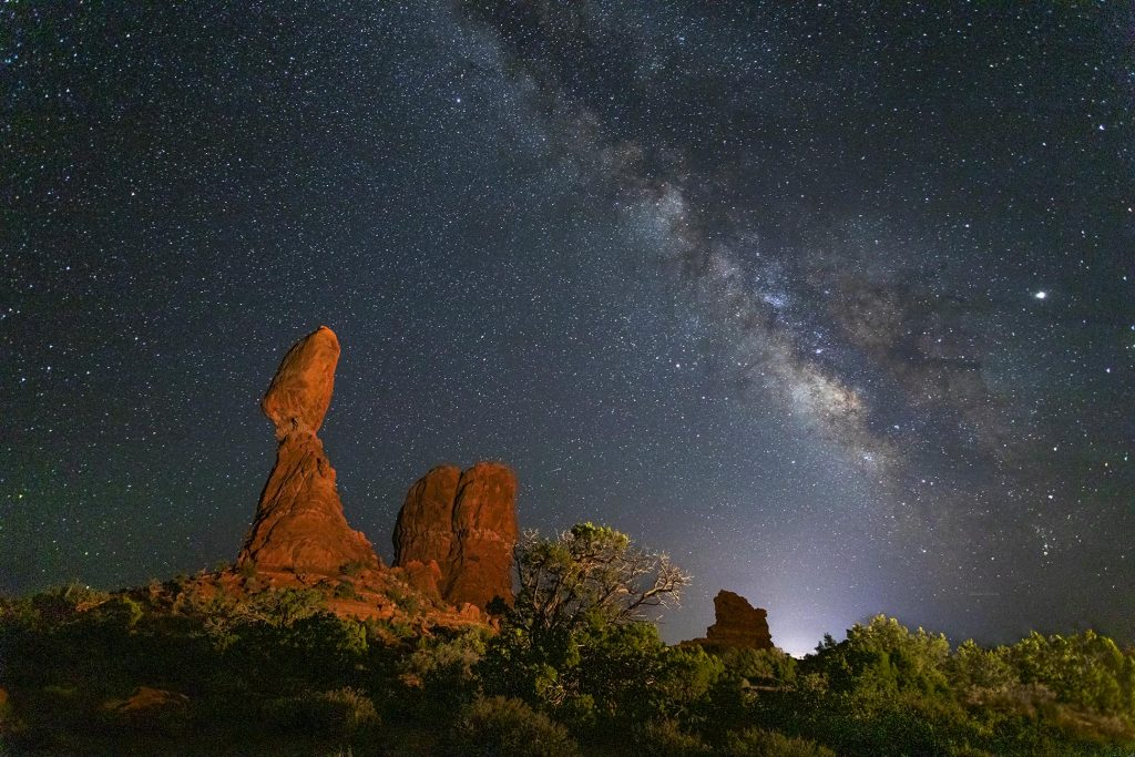 Balanced Rock and the Milky Way