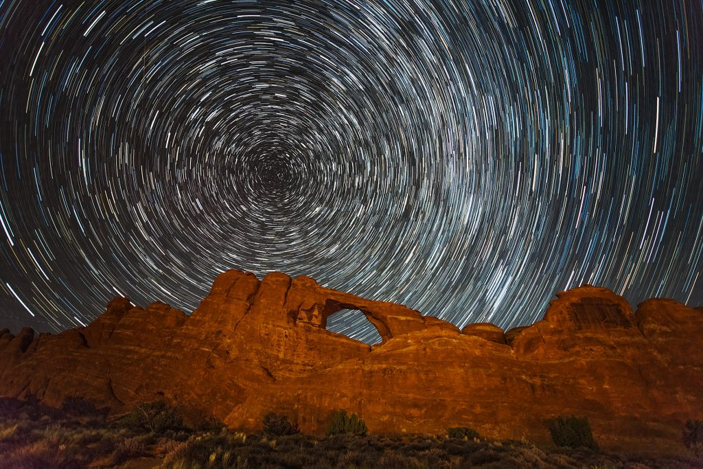 Skyline Arch Star Trails