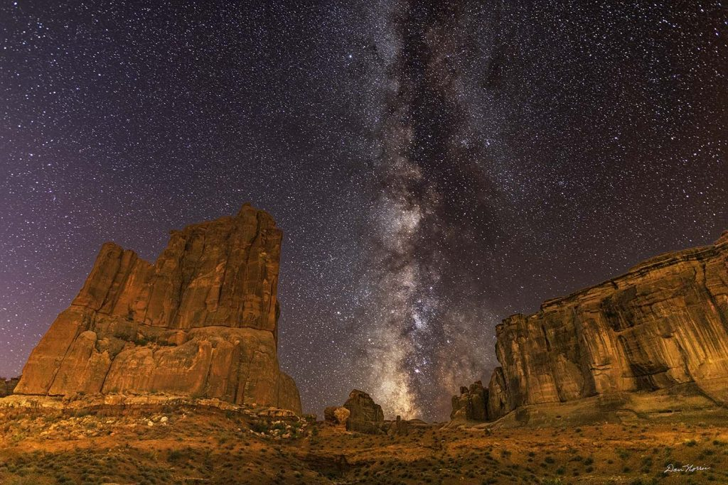 Milky Way at Courthouse Towers.  Arches National Park